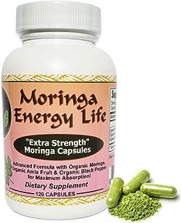Moringa Capsules Extra Strength! - USDA Organic. 100% Pure and Natural Moringa Leaf Blend in 120 Capsules, 500 mg per Capsule. Vegan Supplement. Organic Moringa Capsules for Health and Vitality.