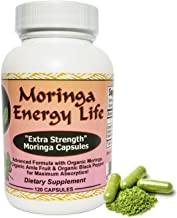 Moringa Capsules Extra Strength! - USDA Organic. 100% Pure and Natural Moringa Leaf Blend in 120 Capsules, 500 mg per Capsule. Vegan Supplement. Organic Moringa Capsules for Health and Vitality.