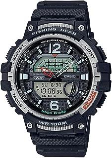 Casio Men's 10 Year Battery Quartz Watch with Resin Strap, Black, 24.1 (Model: WSC-1250H-1AVCF)