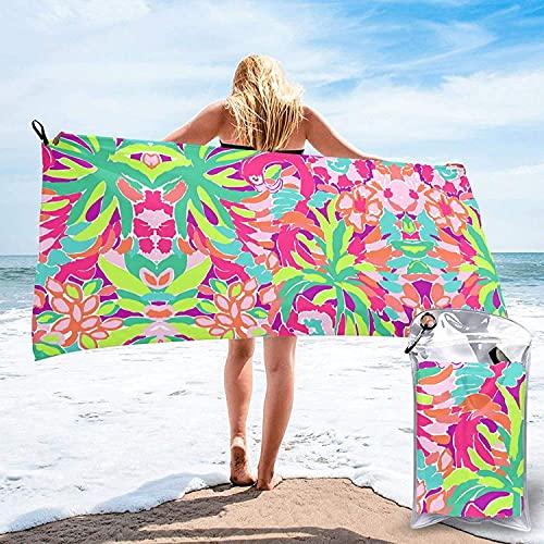 Toalla de baño Elegante Flamingo Bird, Toalla de Playa, Uso Multiusos para Deportes, Viajes, súper Absorbente, Microfibra de Secado rápido Suave, Liviana: 31.5 'x63