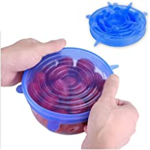 6-piece Stretch Silicone Cover, Bowl Lid Round, Sealed Fresh-keeping Cover Safe and durable