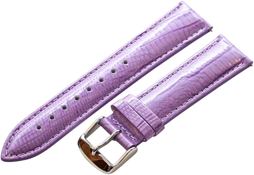 24mm Kansas City Mall 2 Piece Ss Leather Interchangeabl Lizard Grain Cheap sale Purple Lilac