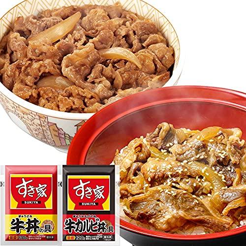 すき家 2種 計15パックセット 牛カルビ丼の具 10パック × 牛丼の具5パック 【冷凍(クール)】