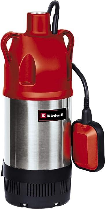 Pompa di profondità prevalenza 32 m portata max 6000 l/h 900 w 230 v rosso einhell gc-dw 900 n