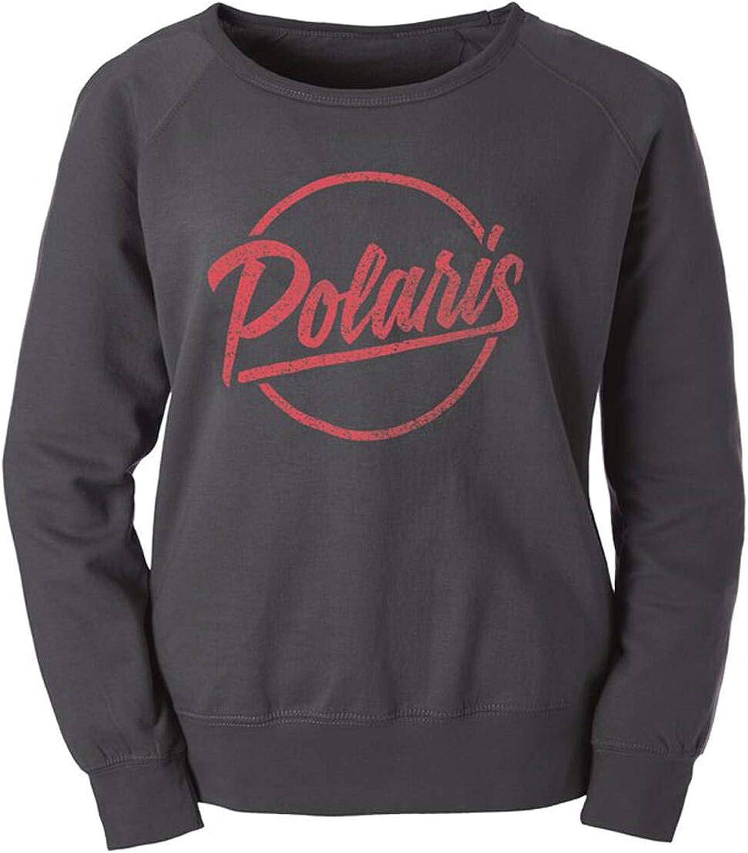 Polaris Women's Crew Sweatshirt with Script Logo, Gray