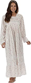 100% Cotton Nightgown Violet with Pockets 7 Sizes
