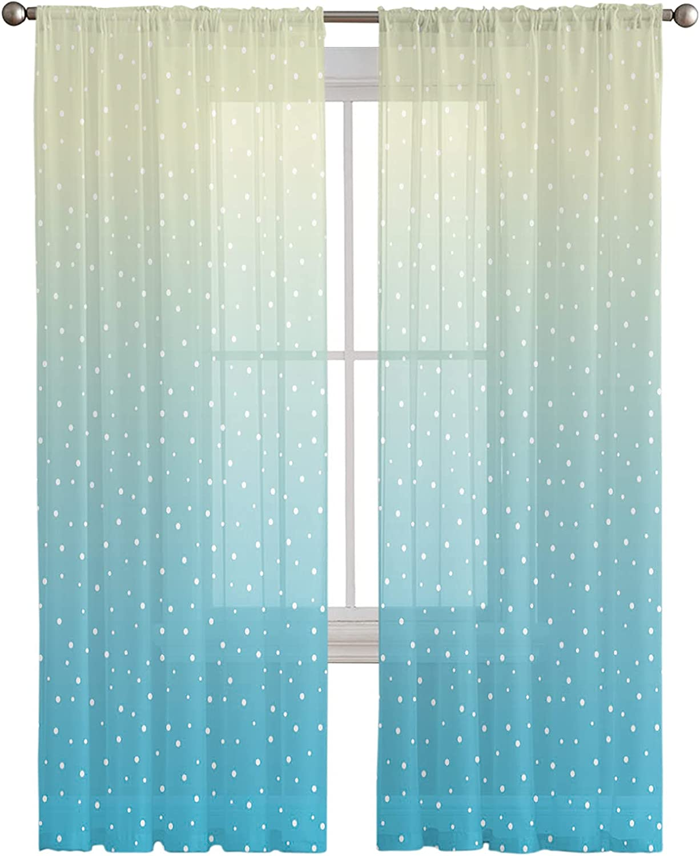 Sheer Window Import Curtain Panels Wave shop W Gradient Art Semi Point