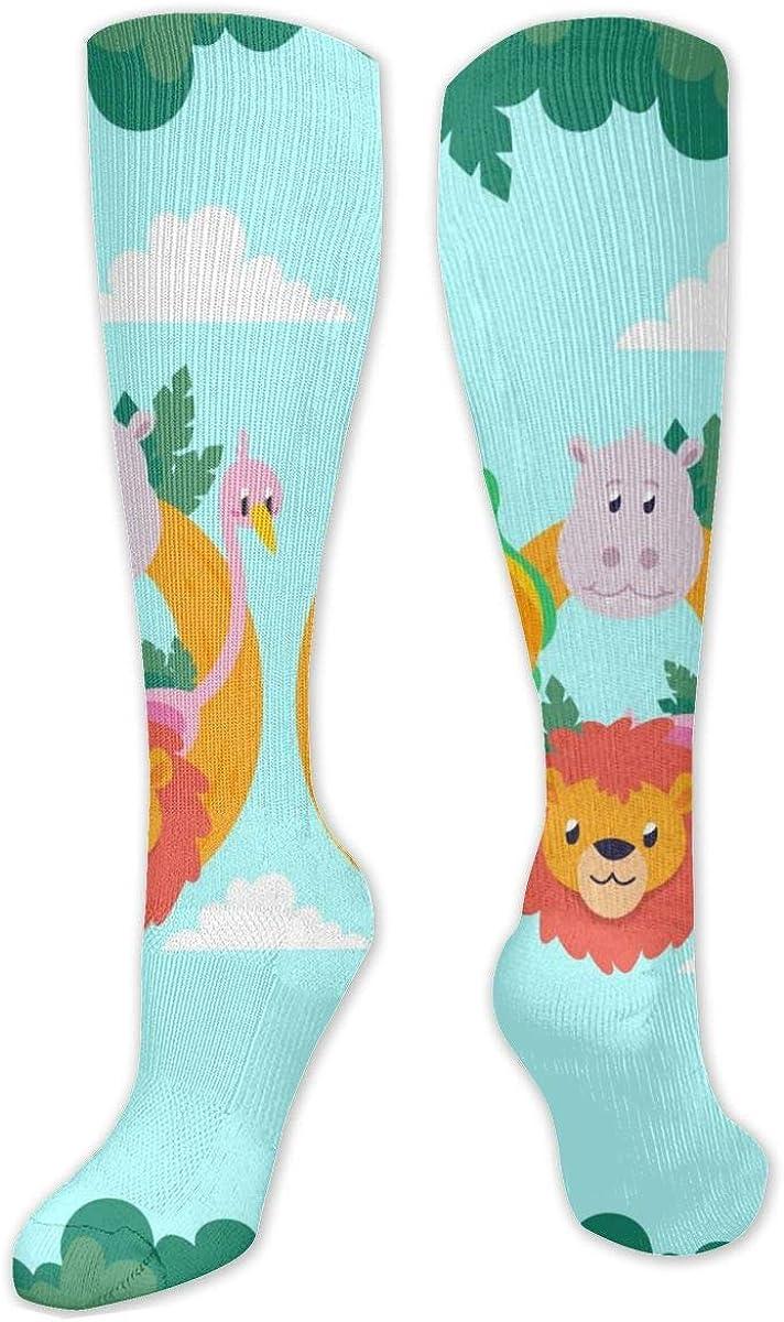 Animals Zoo Knee High Socks Leg Warmer Dresses Long Boot Stockings For Womens Cosplay Daily Wear