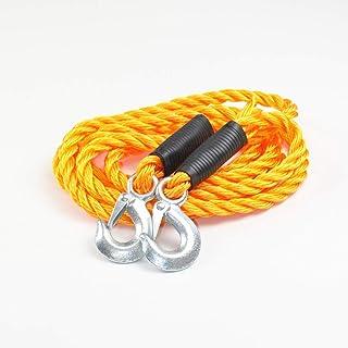 BENSON Abschleppseil bis 5000kg Abschlepphilfe 3,5m elastisches Seil orange mit 2 Haken