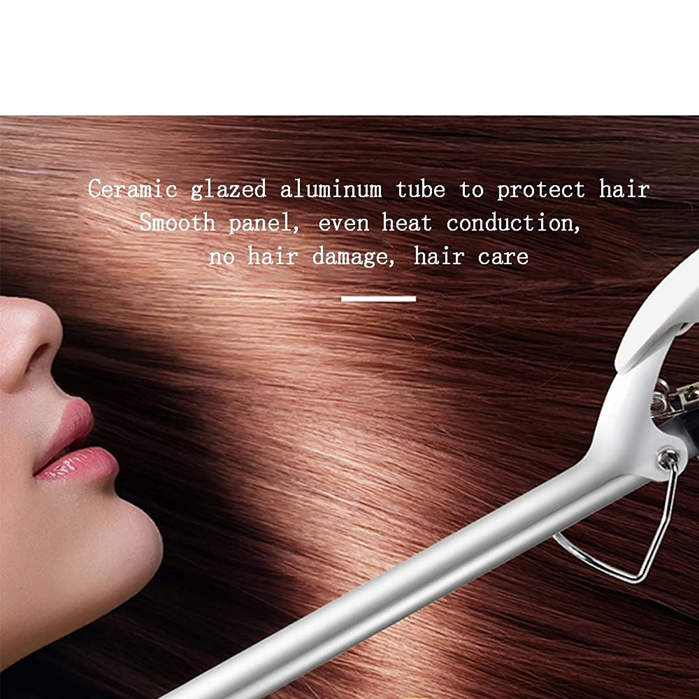 チート錫体操セラミック円錐形カーリングワンド、巻き毛真っ直ぐな髪一石二鳥ヘアアイロン、16mm白