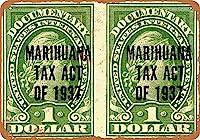 ブリキ看板1937マリファナ税法スタンプ壁グッズ