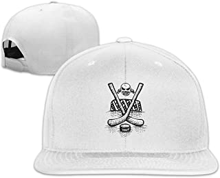 ONE-HEART HR Baseball Cap Hockey Sport Adjustable Custom Flat Peaked Hat Unisex