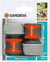 Gardena 18282-26 2 Raccords d'Arrosage Rapides pour Tuyau Plastique 19 mm de diamètre, Orange