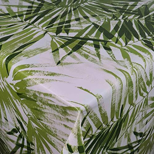 DecoHomeTextil Wachstuch Wachstischdecke Tischdecke Breite und Länge wählbar Bambus Rio Grün 80 x 120 cm Eckig abwaschbar Gartentischdecke