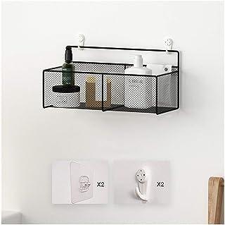 YF-SURINA Caddy de douche étagère murale étagère de salle de bain grille de fer étagères de rangement de douche pas de for...