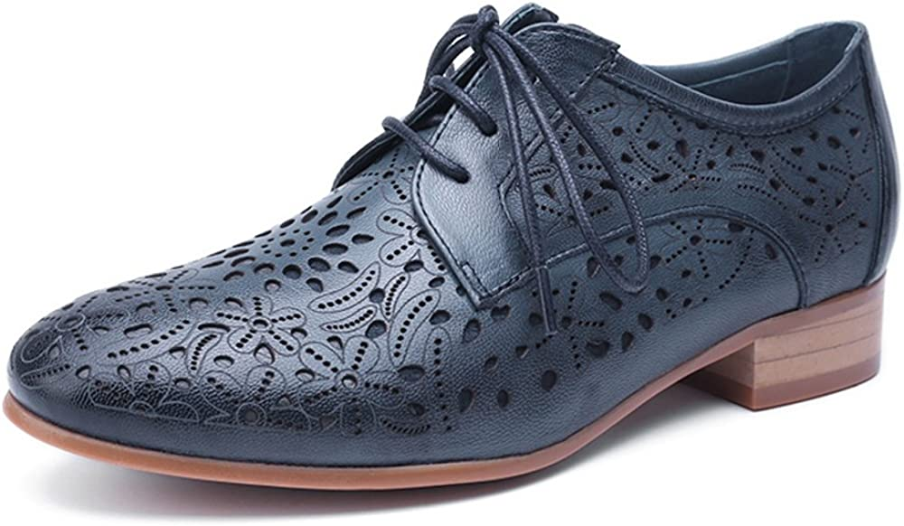 Mona flying Women's Leather Perforated Wi Oxfords Brogue Lace-up Sale item trend rank