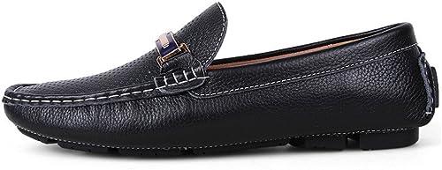 L.W.SURL Mocassins Mocassins de Conduite pour Hommes Classiques de Couleur Unie Penny Boat Chaussures Semelle en Caoutchouc Mocassins Décontractés Poids léger  marque