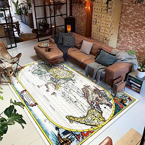 SSHHJ Il Tappeto Map È Adatto per Soggiorno, Camera da Letto, Tavolino da caffè, Ampia Area, Coperta da Comodino, Tappetino, Tappetino per Porte, Tappetino per Bovindo, Ispessimento Antiscivolo