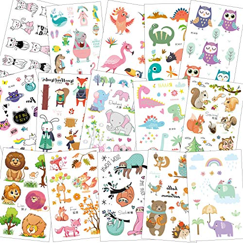 SZSMART Zoo Tatuajes Animales Niños Animal