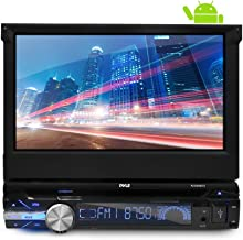 Pyle Single DIN In Dash Android Car Stereo Head Unit w/ 7inch Flip Out Touch Screen Monitor - Audio Video Receiver System w/ GPS Navigation, Bluetooth, WiFi, Microphone, USB Micro SD Reader-PLTDAND72