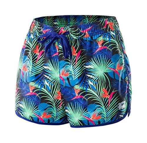 Intelligence Quality - Volleyball-Shorts für Damen in Biscay Green Tropic, Größe L