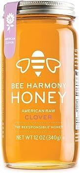 12 Ounce Bee Harmony Honey American Clover
