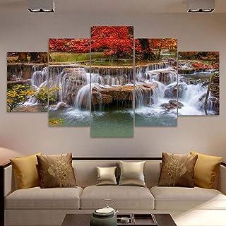 Art Mural Pour Salon Impressions Sur Toile Oeuvre Salle De Bain Décoration Murale Paysage Abstrait Aquarelle Bureau Chambr...