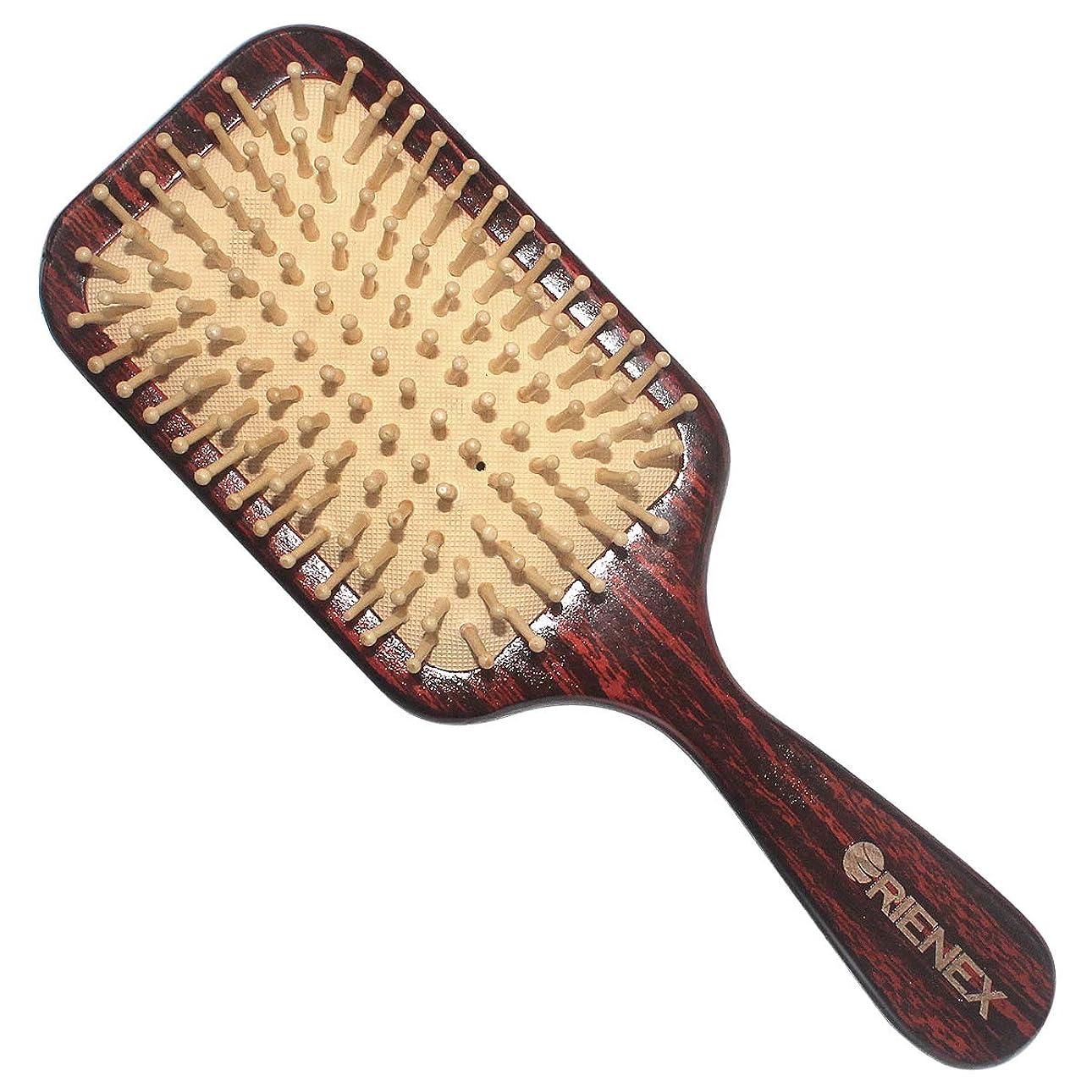 発揮する簡略化するベストOrienex ヘアブラシ 木製櫛 美髪ケア 頭皮&肩&顔マッサージ (荷の木)