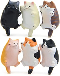 CHICHIC 6 Pack Fun Cat Refrigerator Magnets Office Magnet, Kitchen Toy Decor Fridge Cat Ornament, Perfect for Whiteboard, Refrigerator, Map, Notes, Calendar, Gift for Lady Cats Lovers Novelty Butt