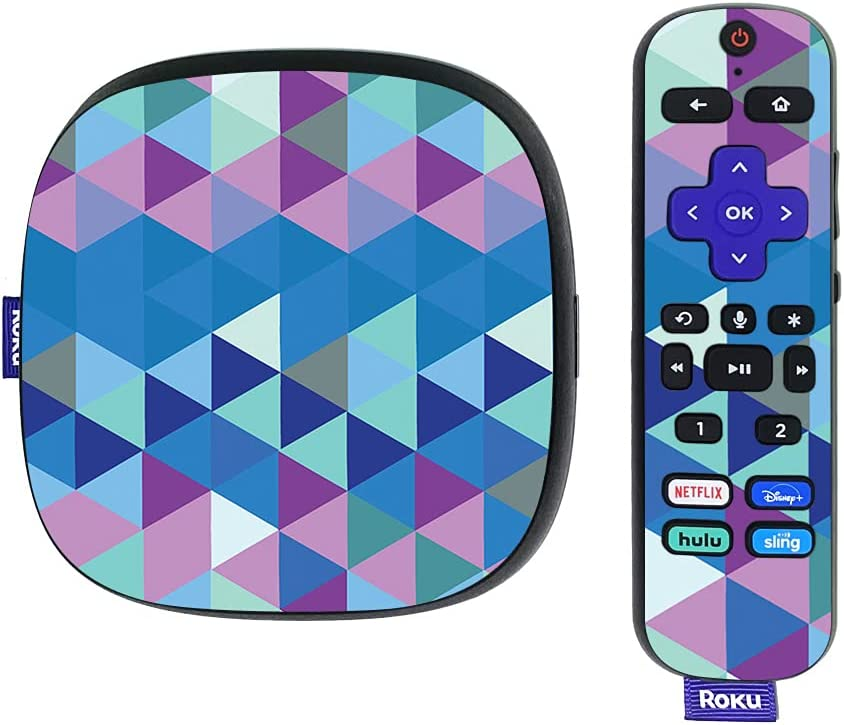 MightySkins Skin Compatible with Roku Ultra HDR 4K Streaming Media Player (2020) - Purple Kaleidoscope | Protective, Durable, and Unique Vinyl Decal wrap Cover | Easy to Apply | Made in The USA
