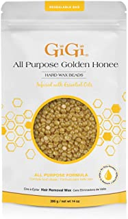 GiGi Hard Wax Beads, Golden Honee All Purpose Hair Removal Wax, no strip needed, 14 oz