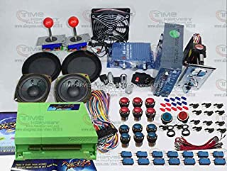 Free Shipping Arcade parts Bundles kit With 815 in 1 Pandora Box 4S Joystick Microswitch Chrome illuminated Buttons for Arcade Cabinet Machine