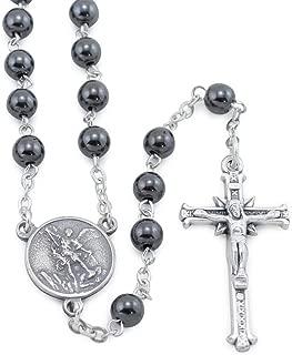St. Michael Rosary with Hematite Beads