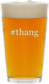 #thang - Glass Hashtag 16oz Beer Pint