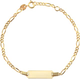 children's id bracelet 14k yellow gold