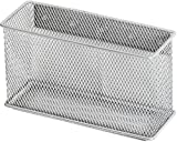 Ybmhome Wire Mesh Magnetic Storage Basket, Container, Desk Tray, Office Supply Accessory Organizer Silver for Refrigerator/Microwave Oven or Magnetic Surface in Kitchen or Office 2305 (1, Large)