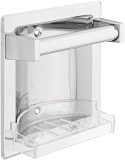 Franklin Brass D2498PC, Bath Hardware Accessories, Futura Recessed Soap Dish with Bar, Polished Chrome