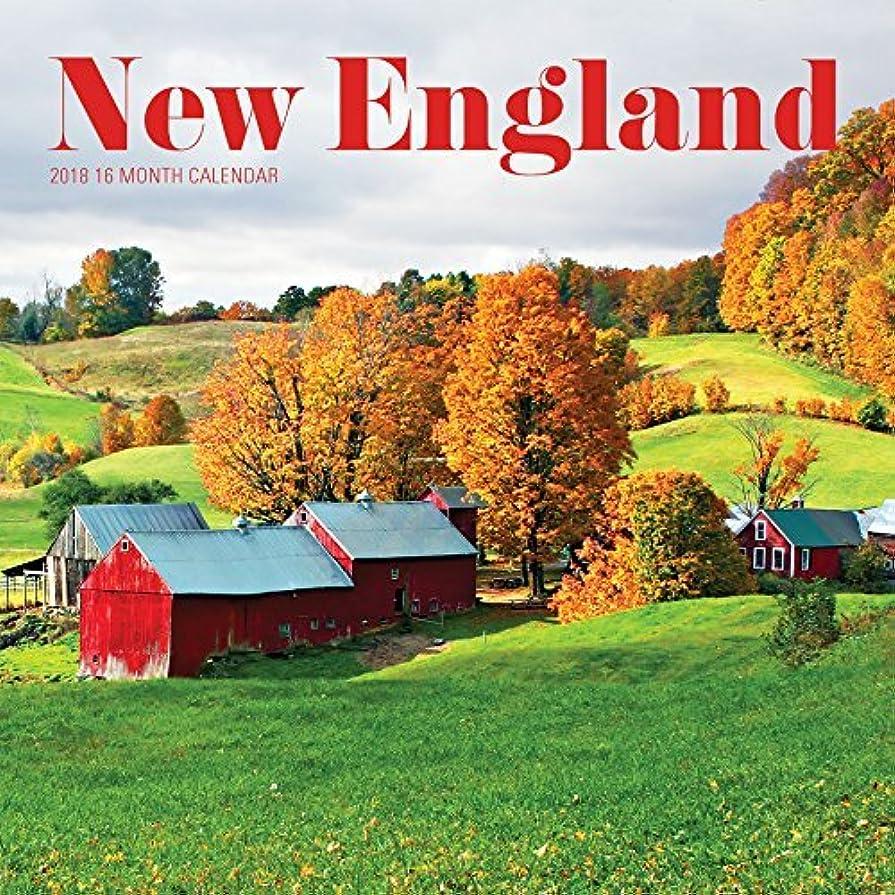何かシャー芽Avalon 2018 New England Wall Calendar 16 Month Calendar 12 x 12 inches (84118) [並行輸入品]