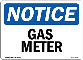 OSHA Notice Sign - Gas Meter | Decal | Protect Your Business, Construction Site, Warehouse & Shop Area |  Made in The USA