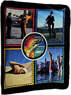 Ramatex Polyester Throw Blankets Pink Floyd Wish You were Here Plush Throw Blanket 60 X 50 60 X 0.25 X 50 Inches Black