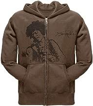 Old Glory Jimi Hendrix - Flock Portrait Mens Adult Pullover Hoodie