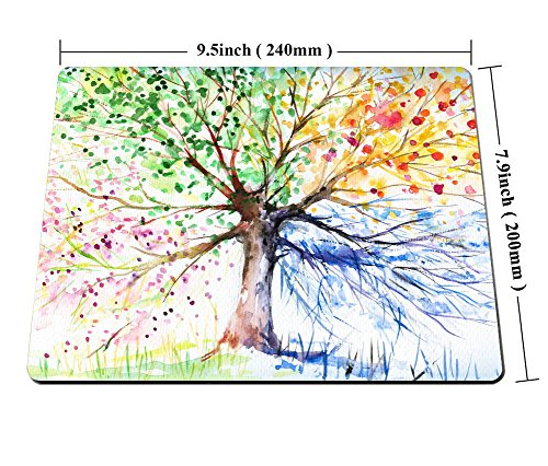 Colorful Tree Four Seasons Mouse pad by Smooffly,Berry Green Red Yellow Navy Brown Personality Desings Gaming Mouse Pad Photo #5
