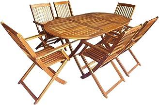 Tavolo da Esterno in Massello dAcacia 70x70x75 cm Festnight Tavolo da Giardino Pieghevole