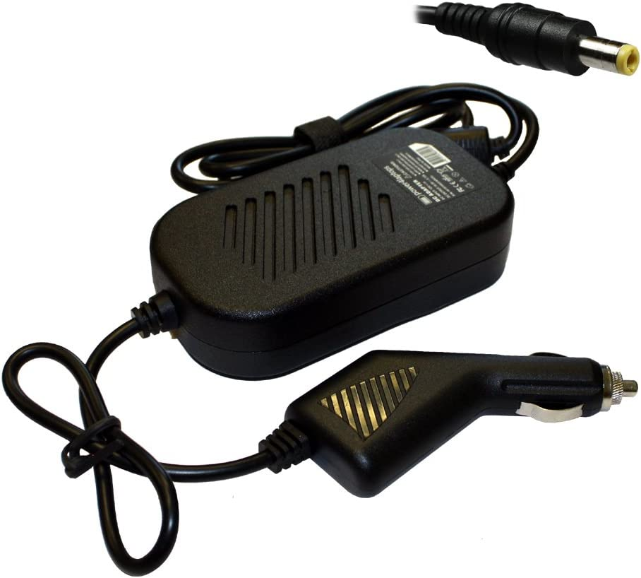 Power4Laptops Adaptador CC Cargador de Coche portátil Compatible con MSI Gaming GV62 7RC-025XTR