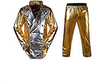 Baorun Michael Jackson World Tour Gold History Jacket with Pant Mj Costume
