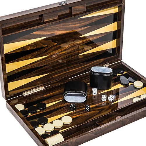 Christopher Street Deluxe Lacquered Backgammon Set 18 1/4'