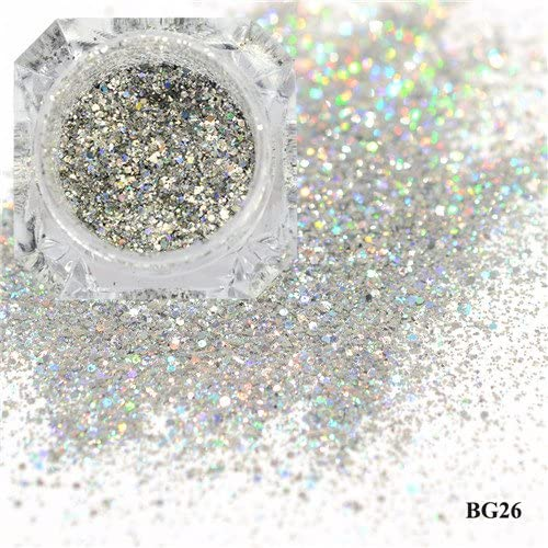 Gabcus 1Box OFFer Direct store Dazzling Platinum Nail Glitter Laser Sparkly Powder