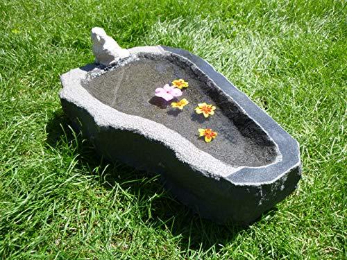 Vogeltränke aus Granit Nr. 40 | Vogelbad aus Naturstein | Unikat | Handarbeit !