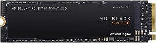 Western Digital WD Black SN750, SSD NVMe Interna per Gaming, PCIe Gen3, M.2 2280, 3D NAND, 250 GB, Nero