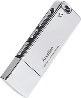 Arssilee Voice Recorder Mini Voice Recorder 16GB USB Flash Drive 192 Hours Capacity Dictaphone Voice Recorder with Dual USB Connector,Listening Devices Record